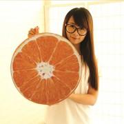 Skylofts Imported 42cm Designer Orange Fruit Design Stuffed Plush Pillow Cushion