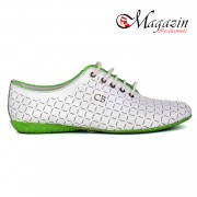 Pantofi Sport Dama - Geno del Tu by Catalin Botezatu - 127 Alb-Verde