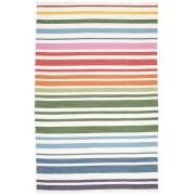RugVista Rainbow Stripe - Vit matta 200x300 Modern Matta