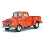 Orange 1955 Chevy Stepside Pick-Up Die Cast Collectible Toy Truck