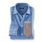 Walbusch Easycare-Hemd Erfolgsstruktur Blau 48