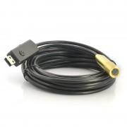 Endoscope USB etanche - Cordon 5m / 4 LEDs / Tete en cuivre