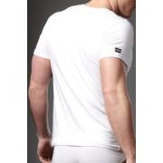 N2N Bodywear Cotton V Neck T Shirt White UN15