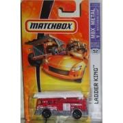 Mattel Matchbox 2007 MBX 1:64 Scale Die Cast Metal Car # 52 - Fire Truck Ladder King by Matchbox
