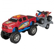 Toy State Road Rippers Light And Sound Sport Trailer: Dodge Ram With ATV (Styles May Vary)