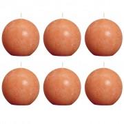 Bolsius Комплект 6 бр. свещи Bolsius, цвят оранжев, 80 мм