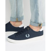 Fred Perry Spencer Canvas Trainers - Navy (Sizes: UK 6, UK 11, UK 7)