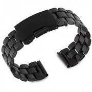 Gdluck 22mm Metal Watchband Strap Bracelet for LG G Watch R W100 W110 Smartwatch with Tools (Black)