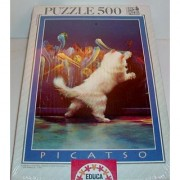 Picatso 500 Piece Puzzle Of Cat Painting By Educa