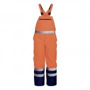 Pantaloni cu pieptar impermeabil de iarna reflectorizant NORWAY cu bretele reglabile