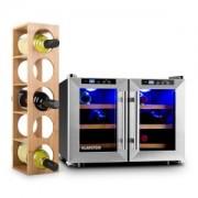 Reserva Saloon Weinset 2-teilig Weinkühlschrank Weinregal
