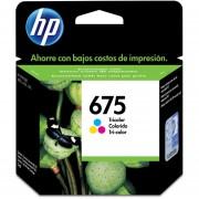 Cartucho Original de Tinta HP 675-Tricolor