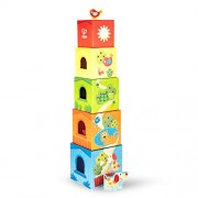 Hape-Friendship Tower (Hape Pepe & Friends Stacking Cardboard Toy Blocks')