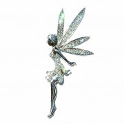 Huge Clear Tinkerbell Fairy Swarovski Crystal Tinker Bell Brooch