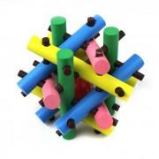 Madera escape Bead Puzzle Jaula Tome el desbloqueo Toy Ball - multicolor