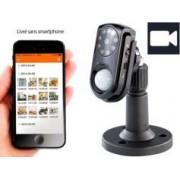 VISORTECH Caméra de surveillance avec capteur PIR, vision nocturne & micro
