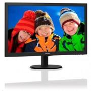 "Monitor Philips 243V5LHAB/00, 23,6"", W-LED, 1920x1080, 10M:1, 250cd, 5ms, VGA, DVI, HDMI, repro, čierna textúra"