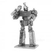 DIY 3D metal rompecabezas de montaje megatron robot modelo de juguete - plata