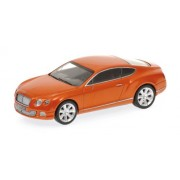 2011 Bentley Continental Gt Orange Metallic 1/43 Limited Edition 1 Of 1008 Produced Worldwide By Minichamps 436139981