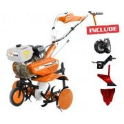 Motocultor Ruris 7099 +roti cauciuc+rarita+plug+adaptor