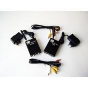 receptor si emitator wireless de semnale audio-video 1 W : camera spion wireless
