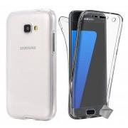 Housse Etui Coque Gel 360 Integrale Samsung Galaxy A3 (2017) + Verre Trempe - Transparent