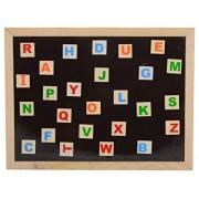 Skillofun Wooden Twin Side Magnetic White Board, Multi Color
