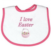 Raindrops Embroidered Bib I Love Easter Strawberry