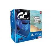 Sony Playstation 3 Ultra Slim Bleue 500 Go + Gta V + Gran Turismo 6 - Console Playstation 3 Ultra Slim 500 Go + Les Jeux Gta V Et Gran Turismo 6