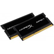Memorie Laptop Kingston HyperX Impact Black HX316LS9IBK2/8, SO-DIMM, DDR3L, 2x4GB, 1600MHz, 1.35V, CL9