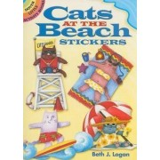 Cats at the Beach Stickers by Beth J. Logan