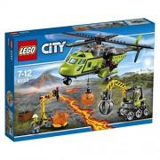 LEGO 60123 - Set Costruzioni City Vulcano - Elicottero dei Rifornimenti Vulcanico