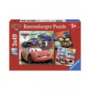 Puzzle lumea masinilor de curse 3x49 piese