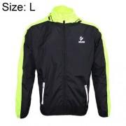 ARSUXEO 007A Warm Male Biking Racing Jacket Coat Waterproof Windproof Long Sleeve Outdoor Clothes Size: L(Green)