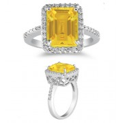 2.75 Carat Citrine and Diamond Cocktail Ring