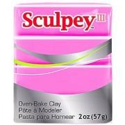 Polyform Sculpey III Polymer Clay 2-Ounce Hot Pink