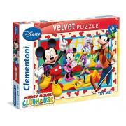 Clementoni 20118 - Puzzle Effetto Velluto La Casa di Topolino, 60 Pezzi