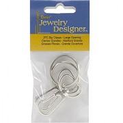 Jewelry Designer Slimpack Silver Metal Findings-Big Clasp-Small Clasp 2/Pkg