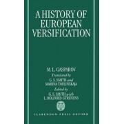 A History of European Versification by Senior Research Fellow M L Gasparov