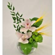 Bol cu orhidee cymbidium si santini