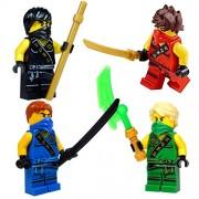 LEGO® NinjagoTM: Ninja's set of 4 - Lloyd, Cole, Jay, Kai Sleeveless Tournament minifigures