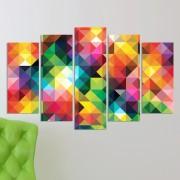 Декоративeн панел за стена с многоцветна холограма Vivid Home