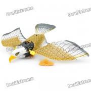 Cute Fashion Plastic Toy aguila Electrica w / cable - Negro + Blanco + Amarillo (2 x AA)