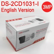 English version DS-2CD1031-I 3MP MINI bullet CCTV camera POE replace DS-2CD2032F-I DS-2CD2035F-I IP security Camera H.264+