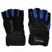 Fitnes rukavice Xplorer plave-koža, XL