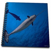 3dRose db_46392_1 The Narwhal lives mainly in the High Arctic often amongst the pack ice and generally offshore-Drawing Book 8 by 8