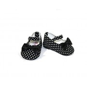 Arianna Black Polka Dot Mary Jane Shoes Fits Most 18 Inch Dolls