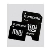 Memoria Flash Transcend, 2GB MiniSD con Adaptador