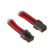 Cablu prelungitor BitFenix Alchemy 6-pini PCIe, 45cm, red/black, BFA-MSC-6PEG45RKK-RP