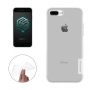 NILLKIN Nature TPU Case for iPhone 7 Plus Stylish 0.6mm Ultrathin Clear Color Soft Protective Case Back Cover(White)